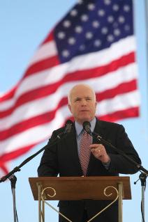 John McCain Visits Troops in Iraq