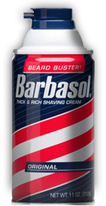 How to keep shaving cream from spewing from your Barbasol can.